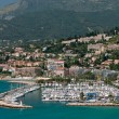 Marina in french mediterranean town Menton - Stock Photo