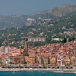 Medieval town Menton in french riviera — Stock Photo
