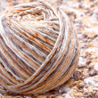 Striped beige tangle of yarn — Stock Photo #4037683