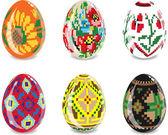 復活祭の卵のセット — ストックベクタ