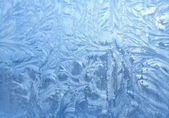 Led vzory na skle — Stock fotografie