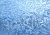 Ice patterns on glass — Stockfoto
