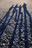 Long shadows — Stock Photo