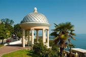 Pavilion at the seafront — Stock Photo