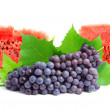 Stock Photo: Watermelon and grape