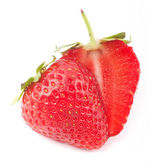 Cut strawberrie — Foto de Stock