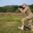 Soldier with a rifle — Stock Photo #4164774