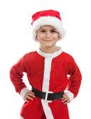 Boy dressed as Santa Claus — Stock Photo