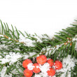 Christmas framework with snow -  
