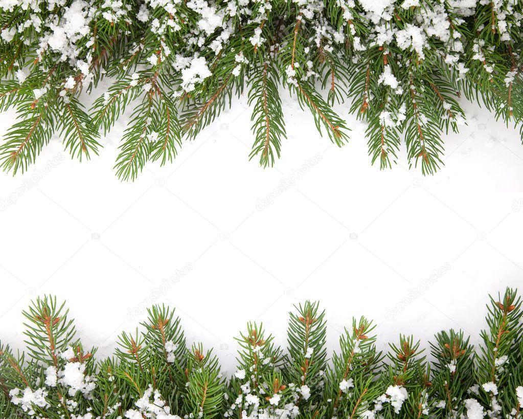weihnachten rahmen mit schnee isoliert auf wei em hintergrund stockfoto bloodua 4323985. Black Bedroom Furniture Sets. Home Design Ideas