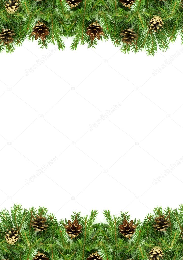 Christmas green  framework isolated on white background — Stock Photo #4435829