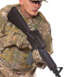 Soldier with rifle — Stock Photo #4458889