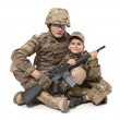 Military Father and Son — Stock Photo