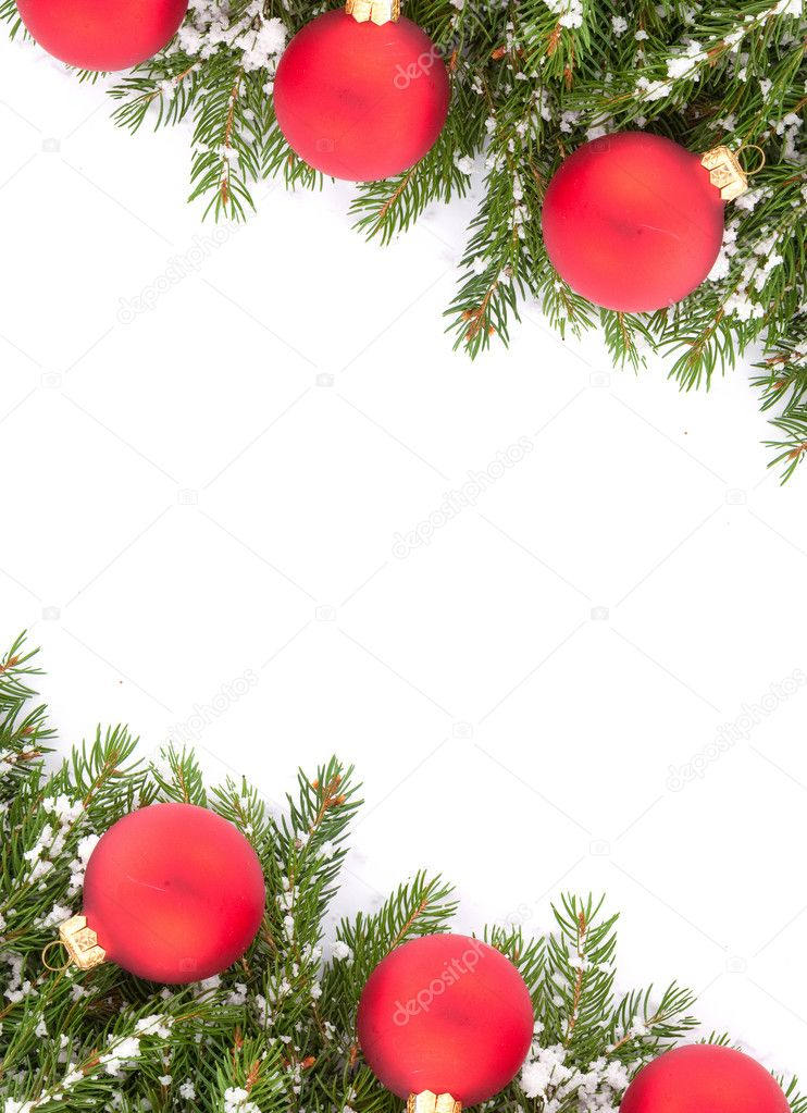 Christmas green  framework isolated on white background — Stock Photo #4555168