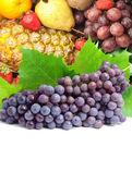 красочные здоровых свежих фруктов. застрелен в студии — Стоковое фото