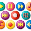 Child's plasticine buttons. - Stock Photo
