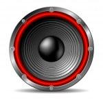 Audio speaker — Stock Vector