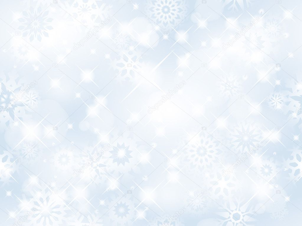 Christmas seamless background with glitter white snowflakes - vector background for continuous replicate. See more seamless backgrounds in my portfolio.  Grafika wektorowa #4168304