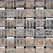 Woven metal pattern. — Stock Photo