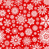 Snowflakes seamlessly pattern. — Stock Vector