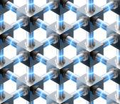Crystalline seamless pattern. — Stock Vector