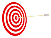 Target and arrow. — Stock Vector