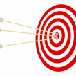 Target and arrows. — Stock Vector