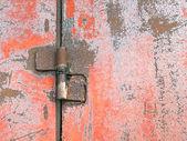 Hinge on rusty door. — Stock Photo