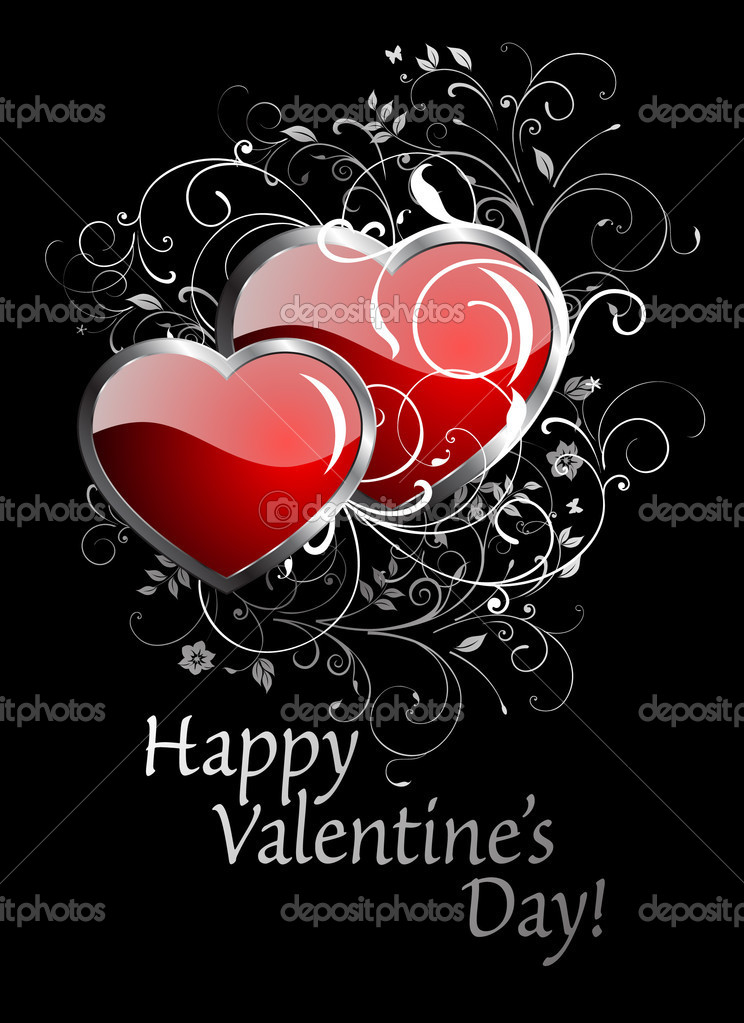 Happy Valentine's Day card. — Stock Vector #4599328