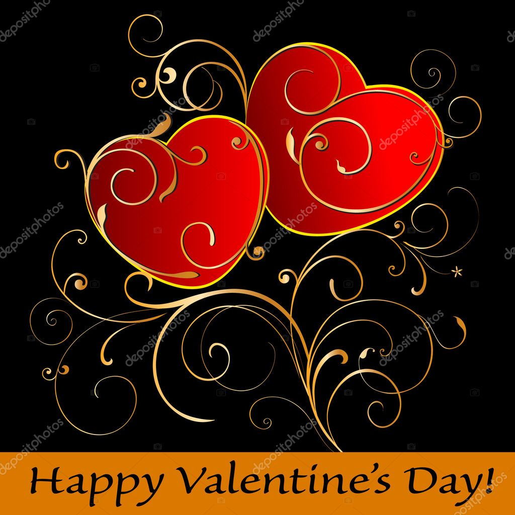 Happy Valentine's Day card. — Stock Vector #4640446