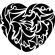 Royalty-Free Stock Vector Image: Black heart.