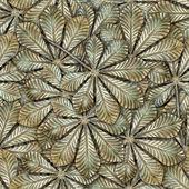 Bronze chestnut leafs seamless background. — Stock Photo