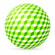 Stock Vector: Spherical cubes.
