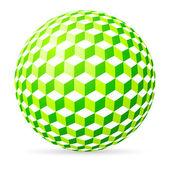 Spherical cubes. — Stock Vector