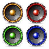 Audio speakers set. — Stock Vector