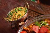 Arroz con verduras como guarnición — Foto de Stock