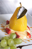 Pear dessert — Stock Photo