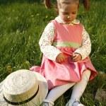 Upset little girl — Stock Photo