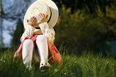 девушка скромница — Стоковое фото