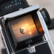 Sunrise through the viewfinder — Foto Stock