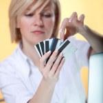 kreditkort choise — Stockfoto