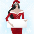 Santa woman — Stock Photo