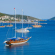 Landscape with yacht — Stock Photo #4084123