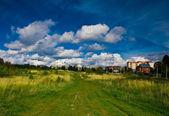 天空和景观领域 — 图库照片