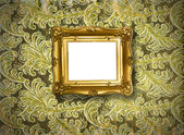 Frame on golden texture background — Stock Photo