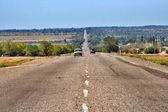 Road with dividing line — Stock Photo