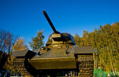 Old tank of USSR T-34 — Stock Photo
