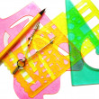 Set instruments for geometric drawings — Stock Photo #5010756