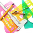 Set instruments for geometric drawings — Stock Photo #5010762