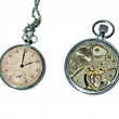Old pocket watch isolated — 图库照片 #5013256